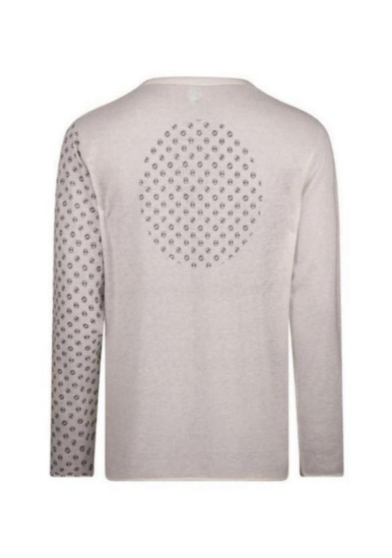 Adrian Pause Print Cashmere Longsleeve