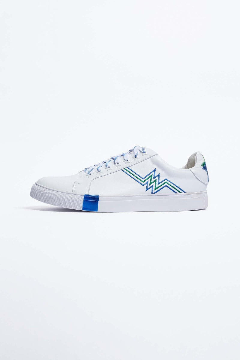 White Leather Heartbeats Trainers