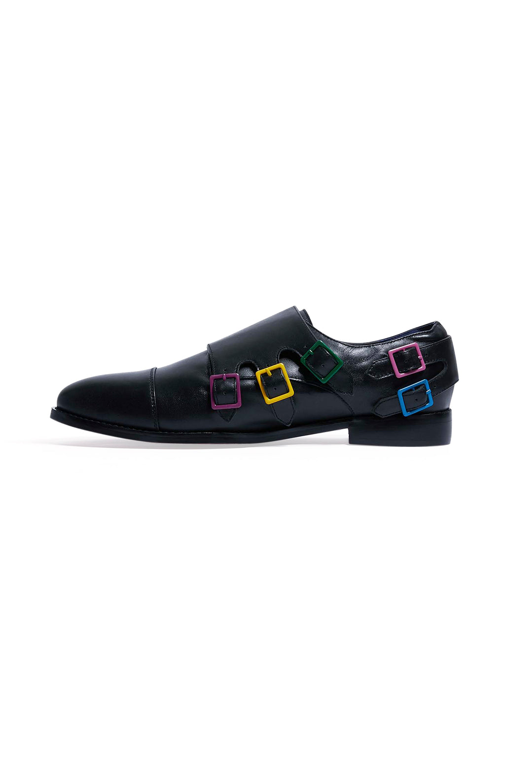 Adrian Mens Leather Buckled Shoes