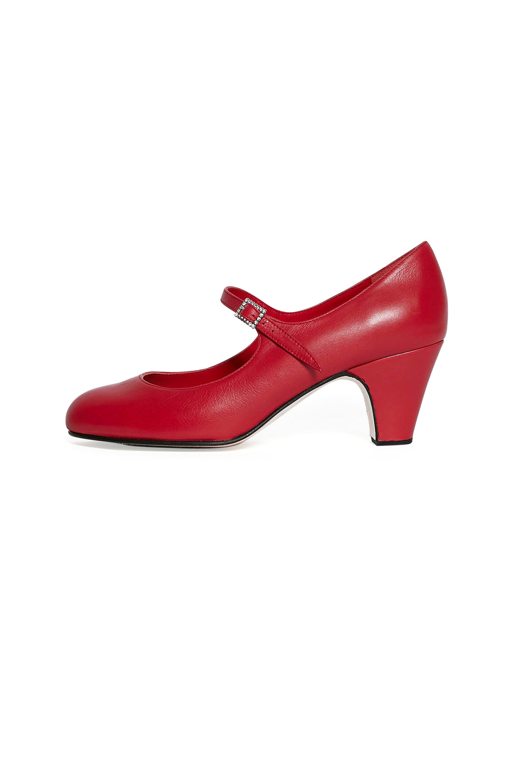 Red Leather Flamenco Heels