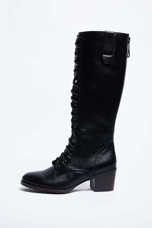 Black High Leather Boots