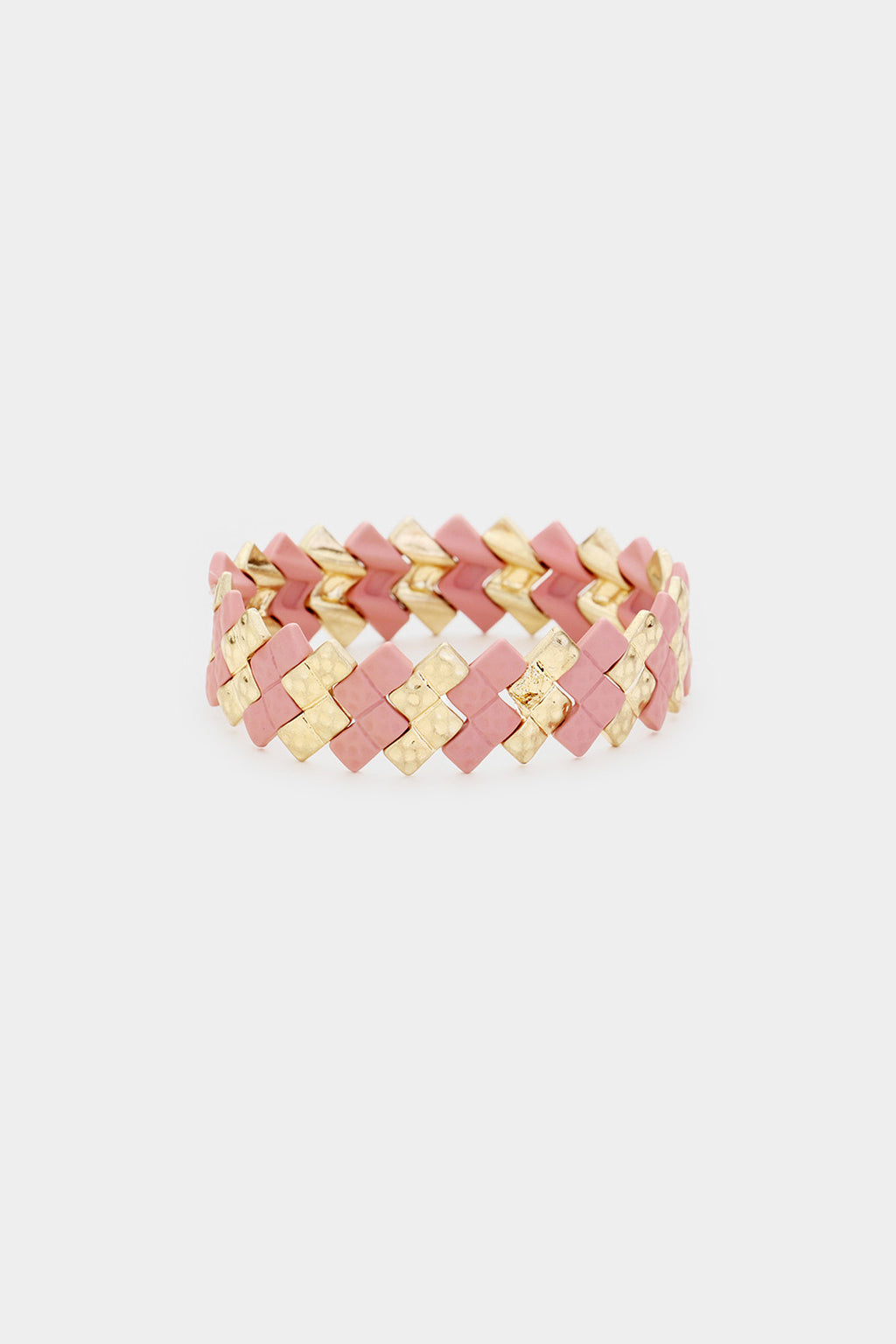 Coated Metal ZigZag Bracelet
