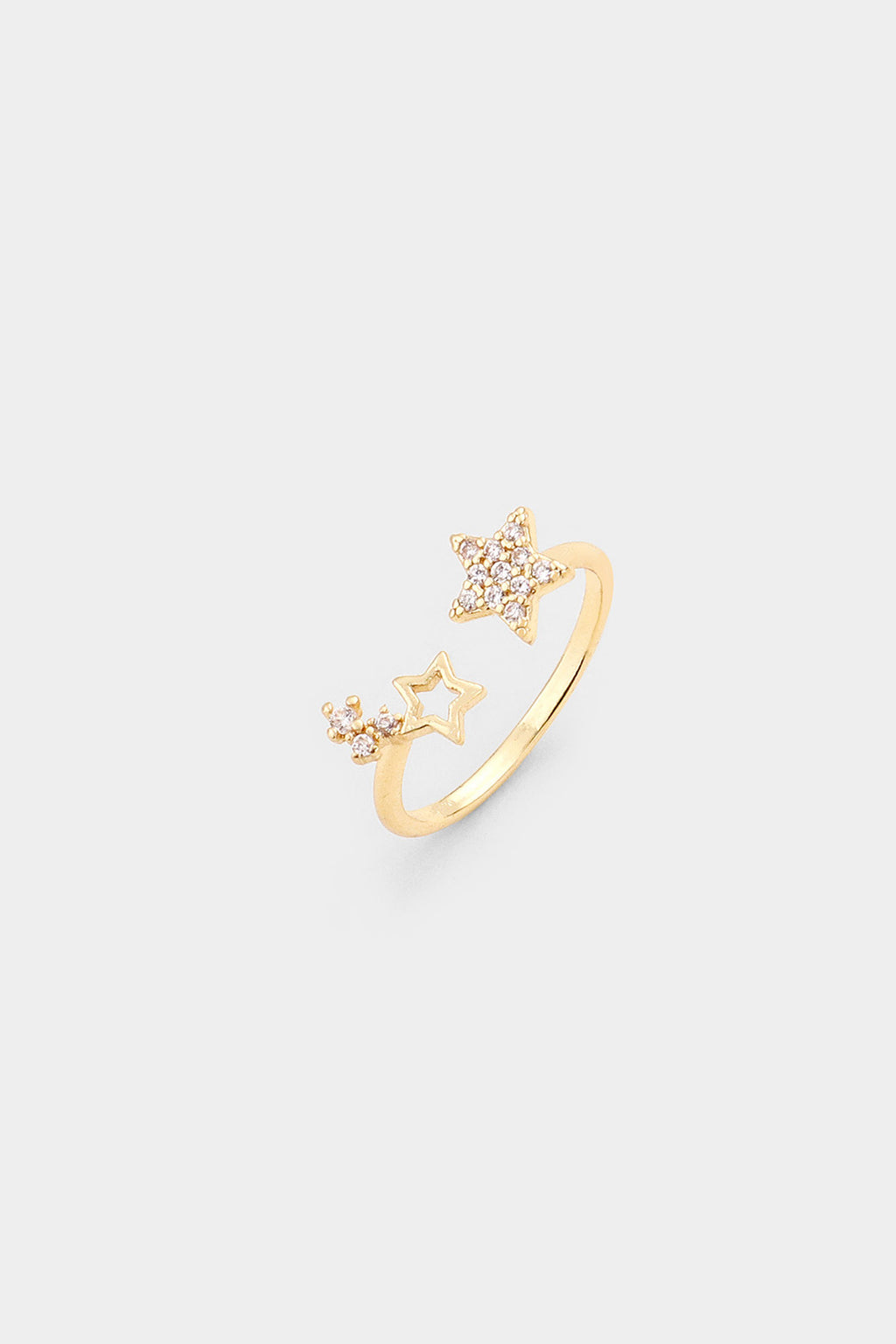 Gold Dipped Star Cuff Ring