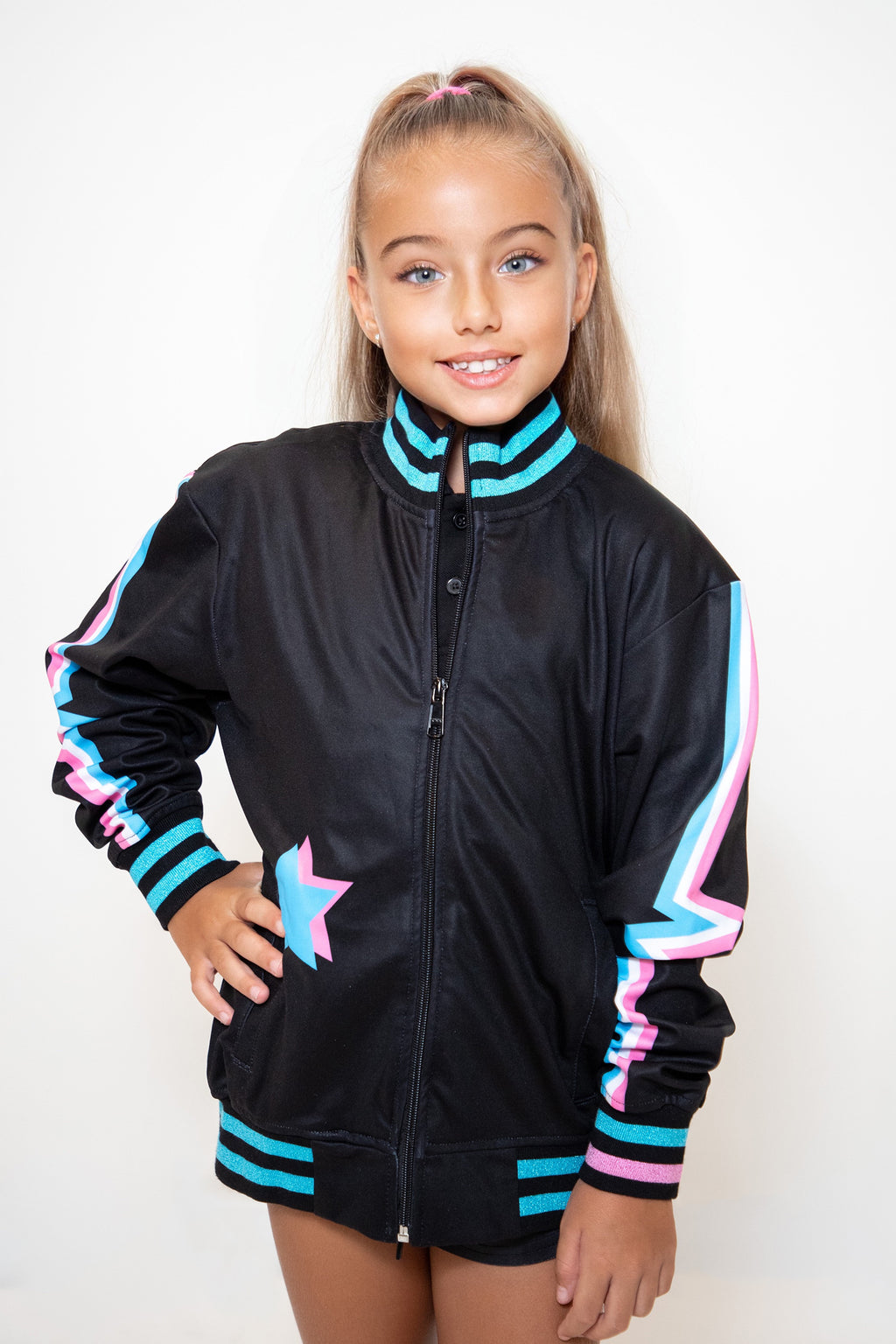 Kids Black Heartbeat Track Jacket