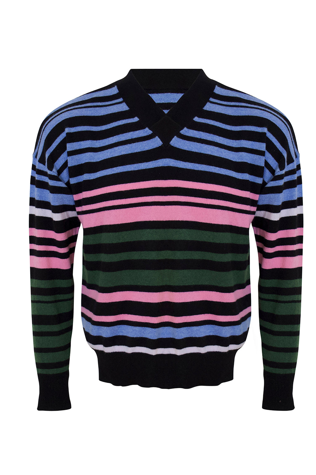 Multicolour Striped Cashmere Jumper