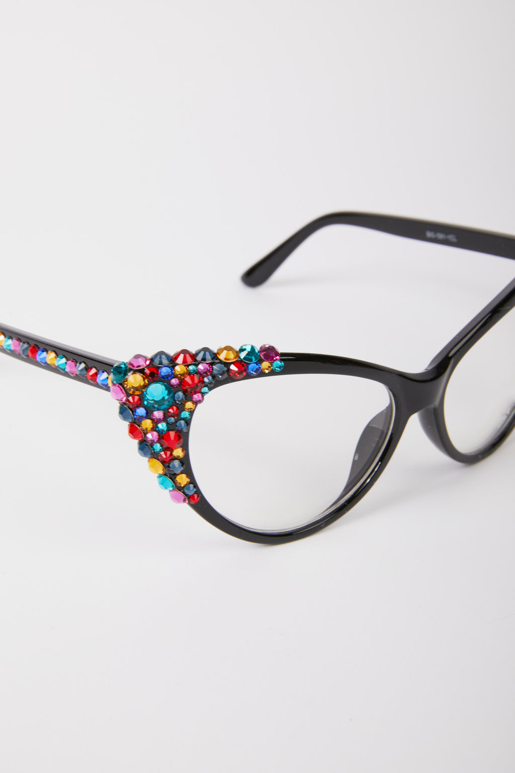 Cat Eye Embellished Glasses