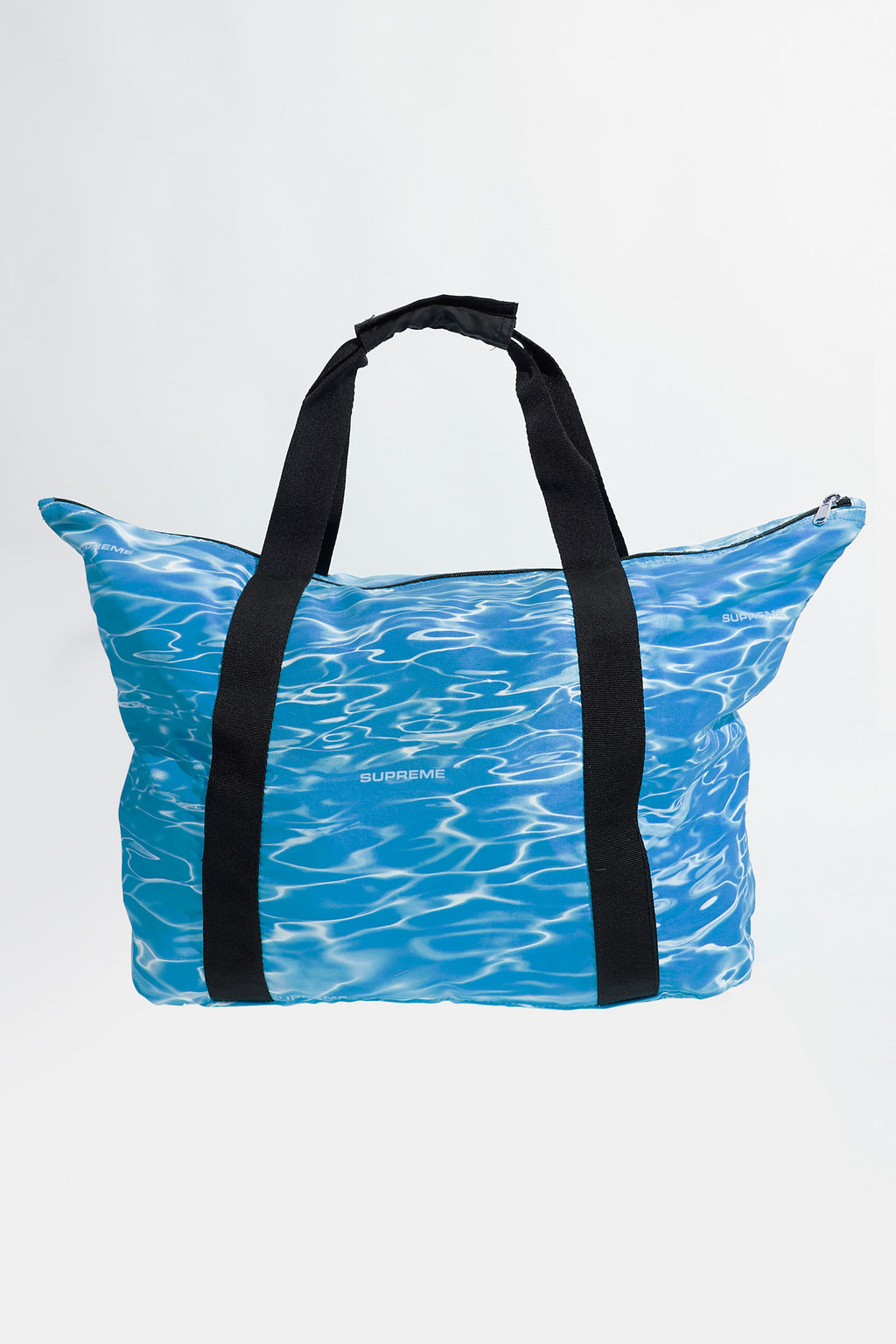 Supreme Blue Box Logo Water Ripple Print Tote Bag