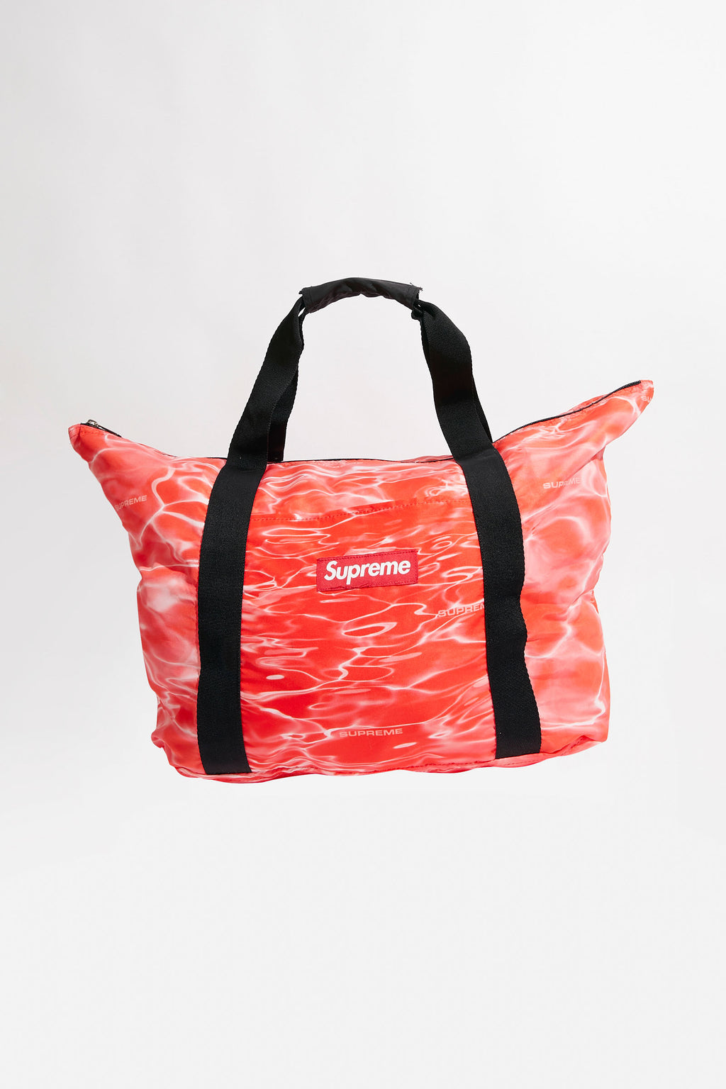 Supreme Red Box Logo Water Ripple Print Tote Bag