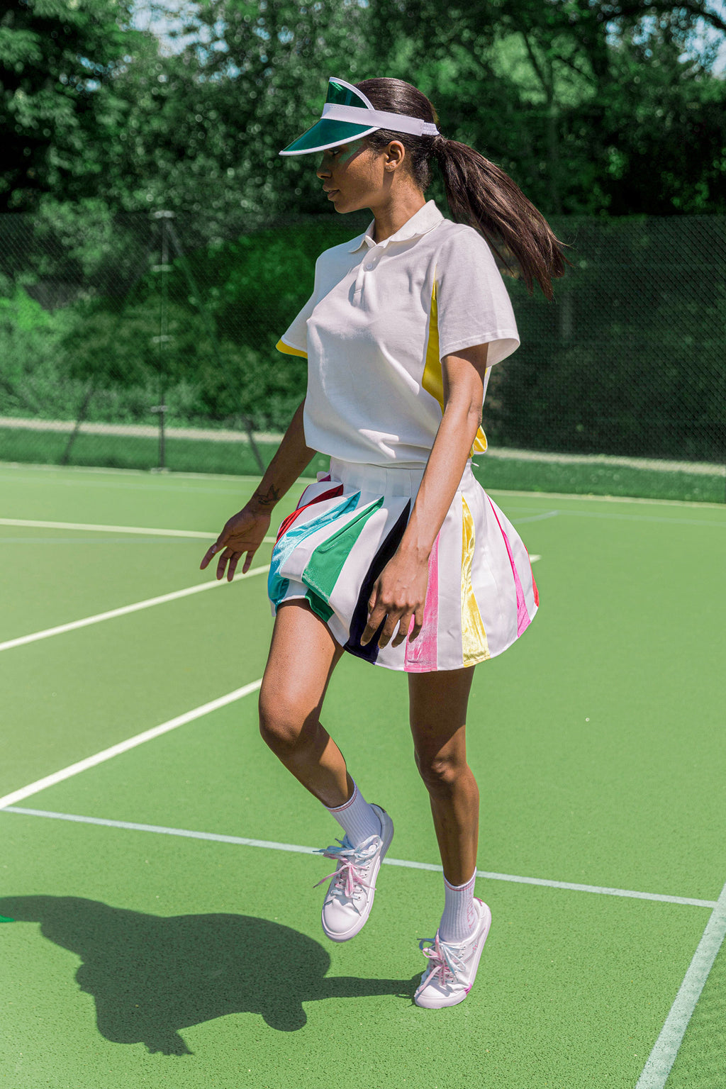 Rainbow Pleat Tennis Skirt