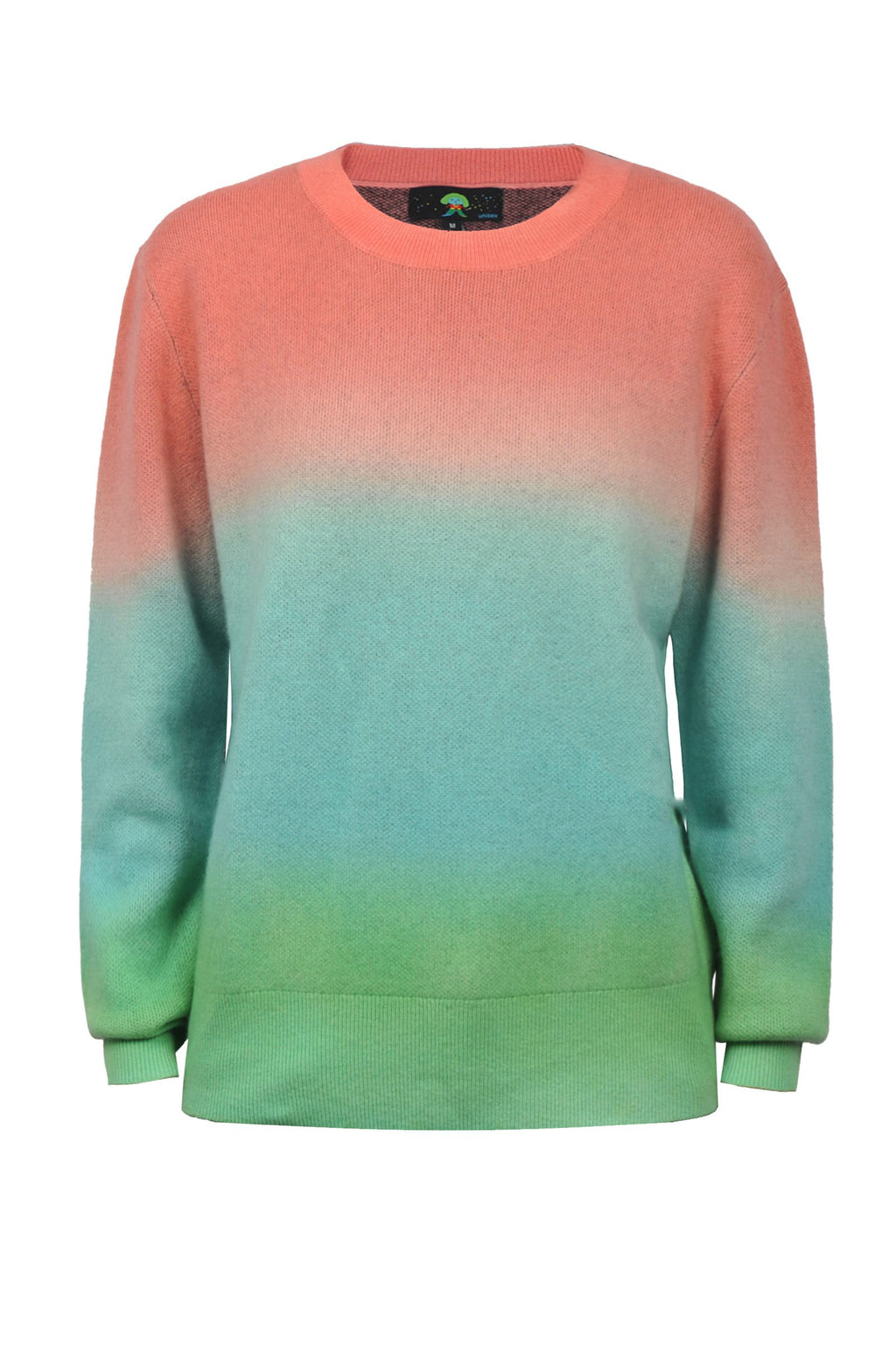 Cashmere Ombre Crewneck Think Sweater