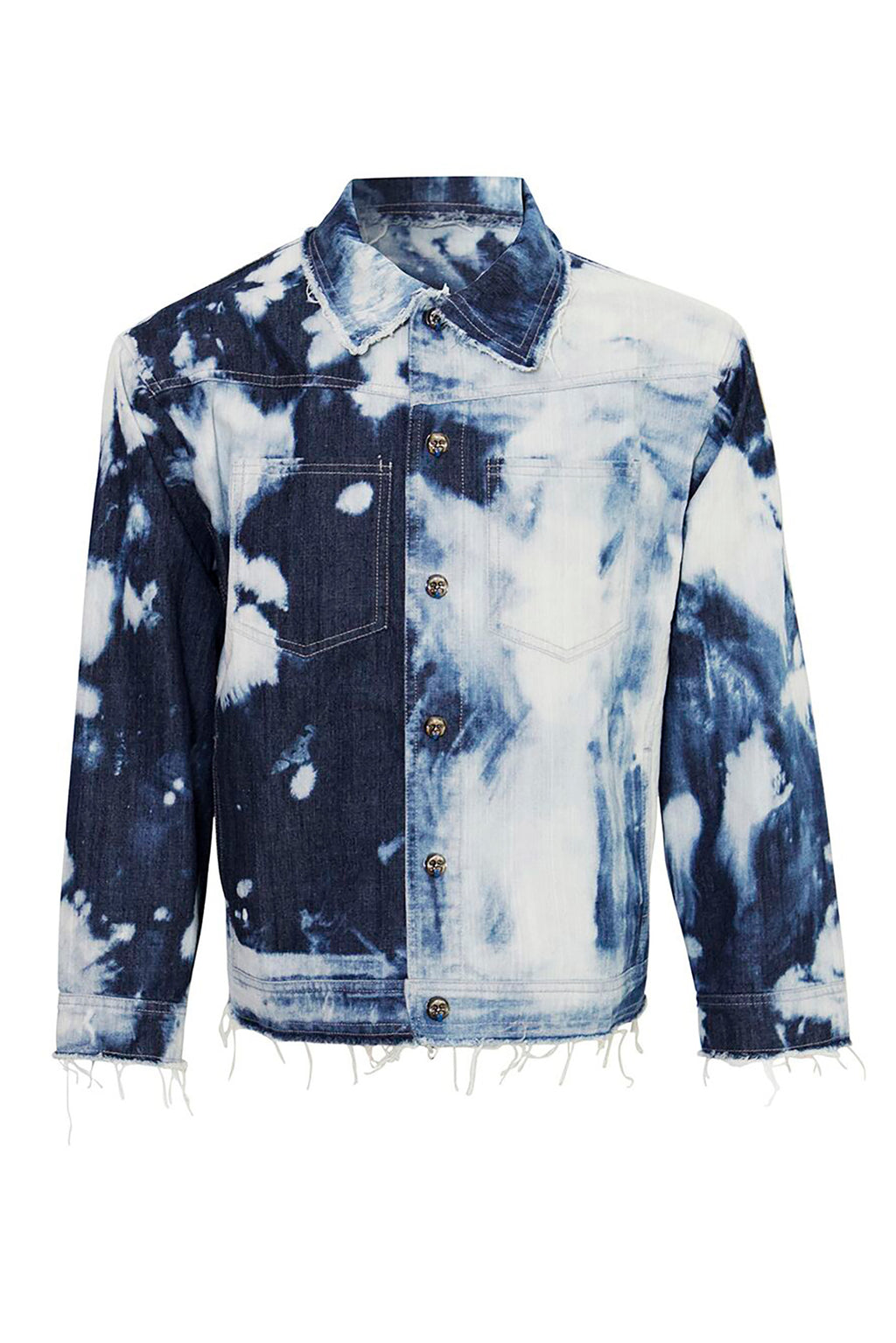 Unisex Tie Dye Denim Jacket