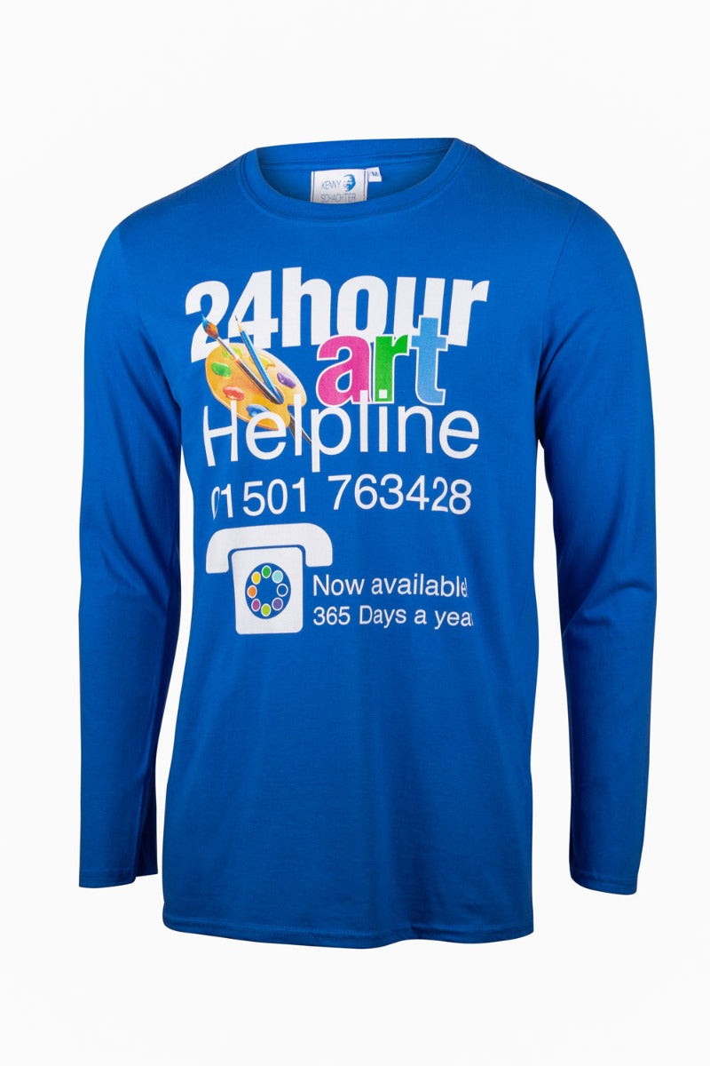 Kenny Schachter 'Art Helpline' Long Sleeve Top