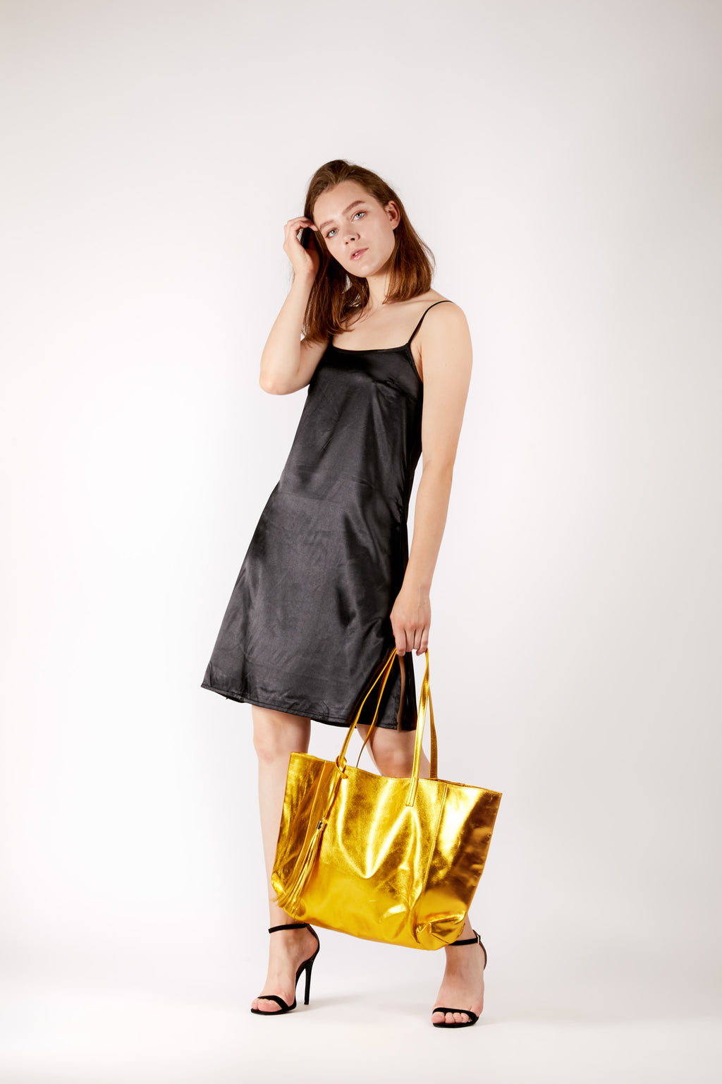 Black Basic Slip Dress
