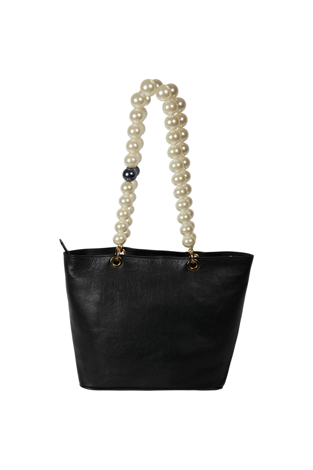 Short Pearl Bag Straps with Black Pearl