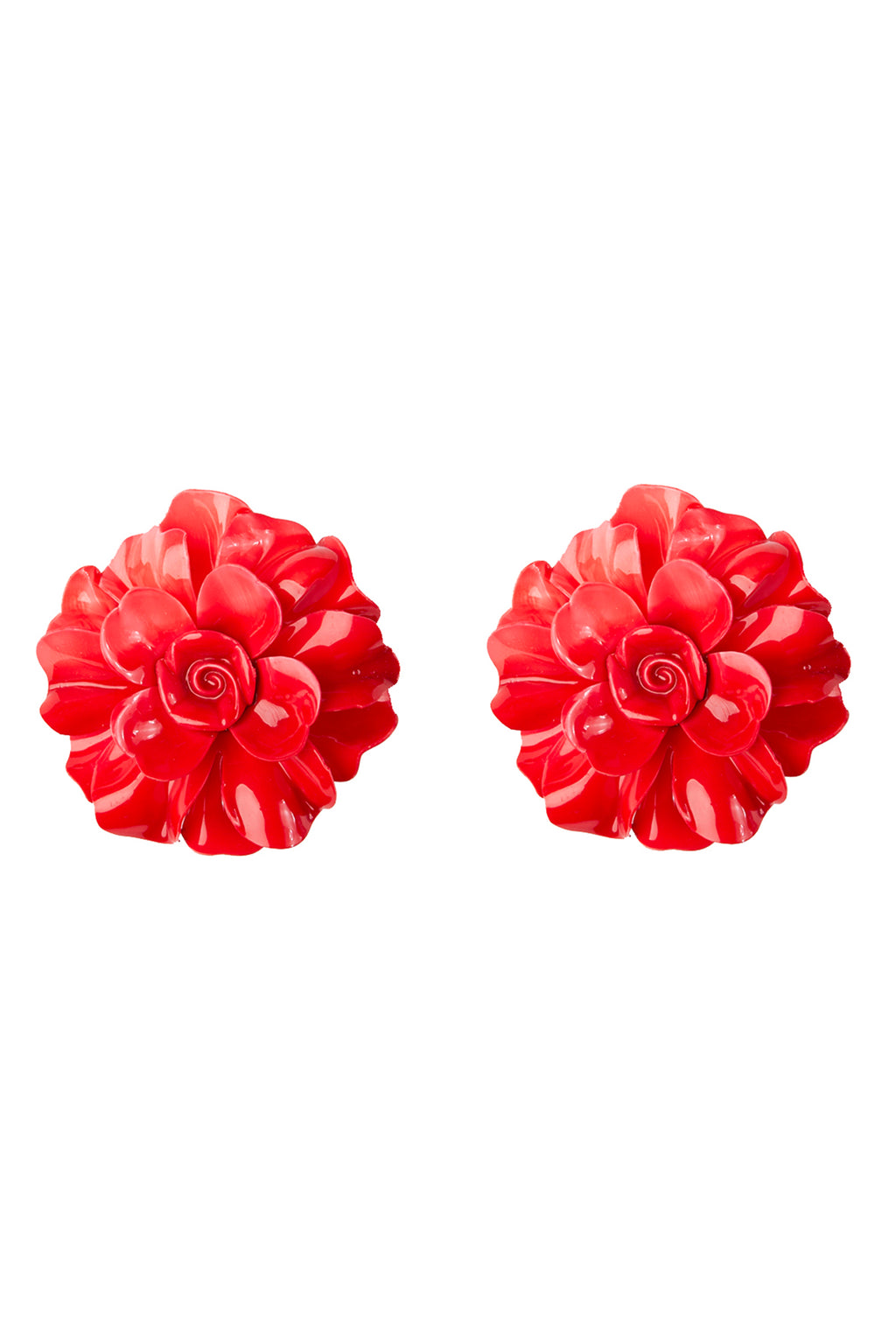 Blooming Rose Vintage Clip-On Earrings
