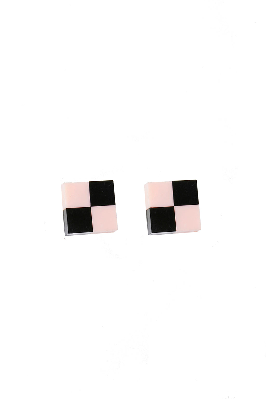 Pink & Black Vintage Stud Earrings