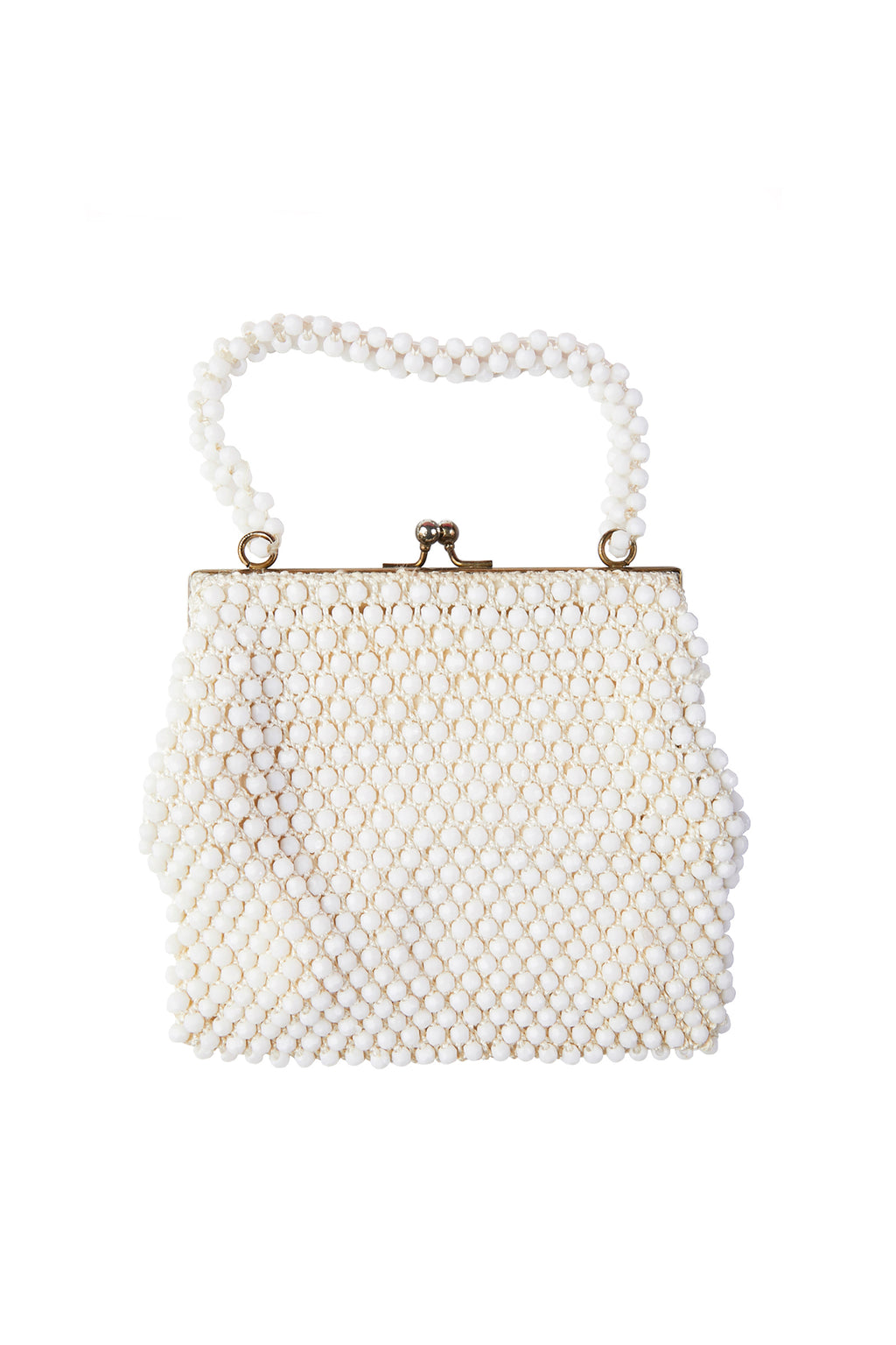 White Beaded Hangbag