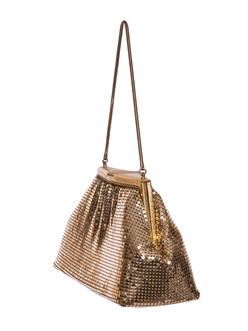Vintage Golden Chainmail Bag