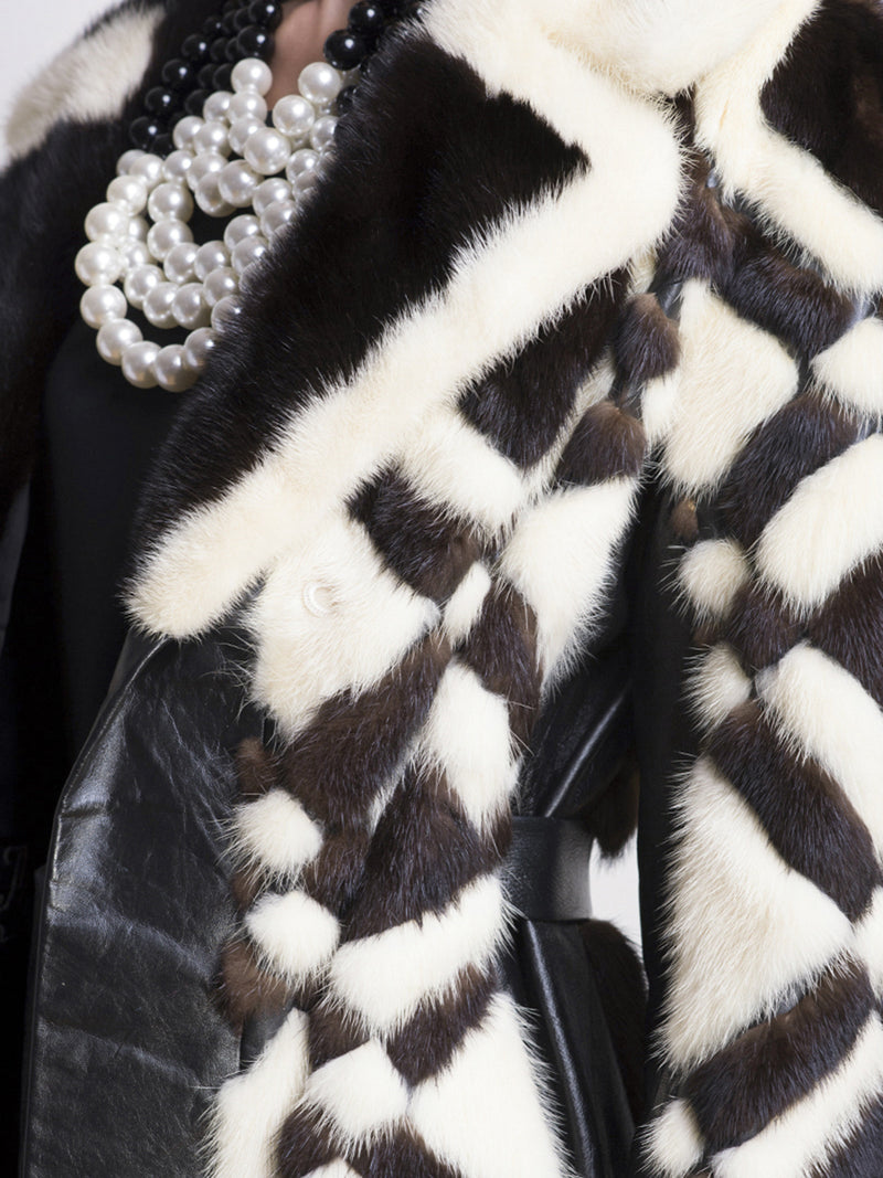 Monochrome Vintage Fur Coat