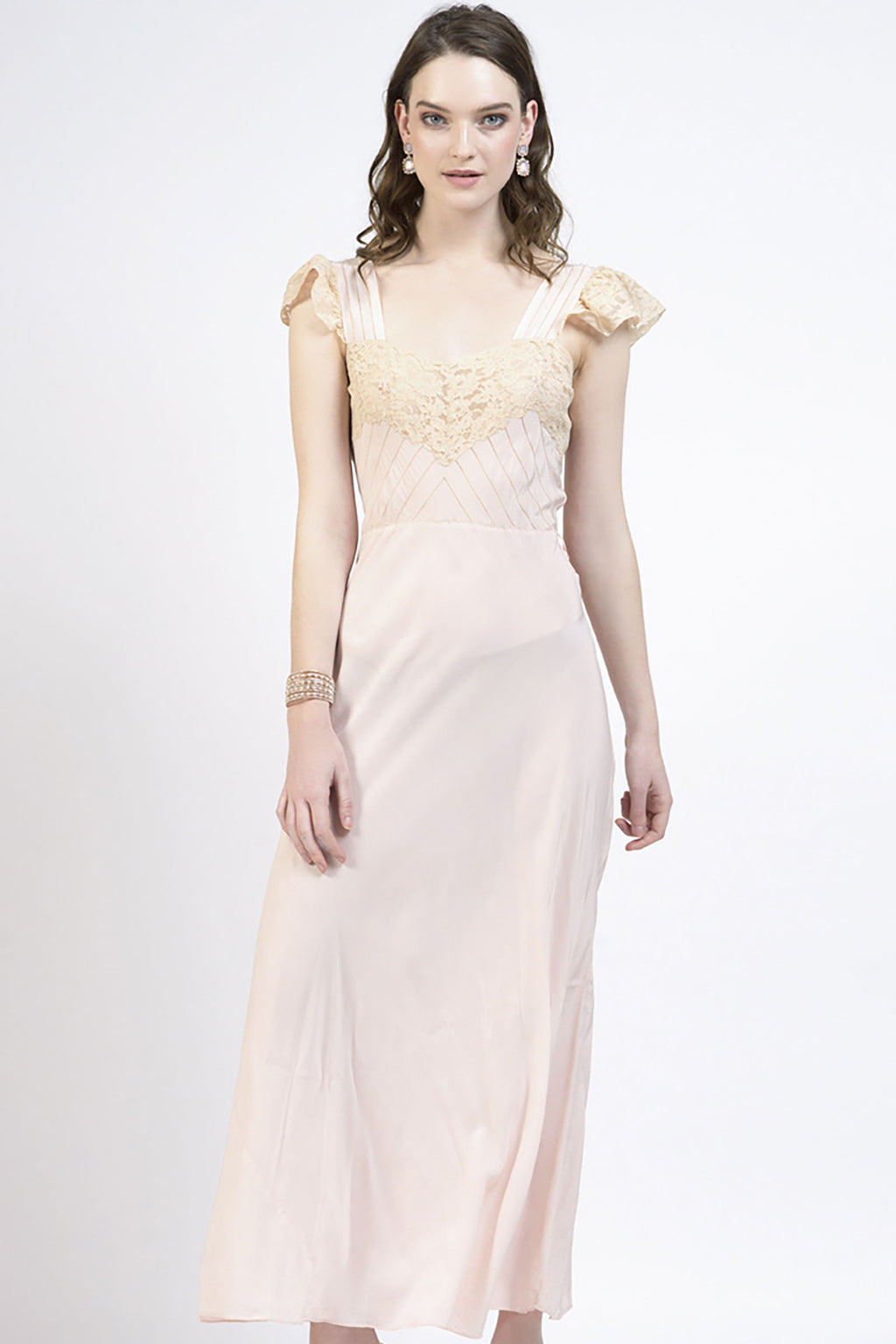 Blush Rose Vintage Maxi Dress