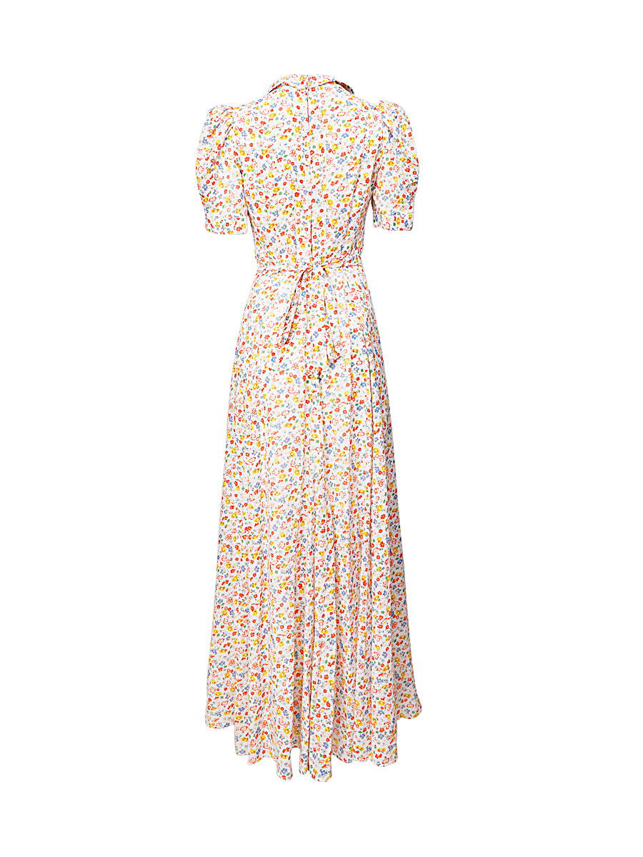 Light Floral Maxi Dress Vintage