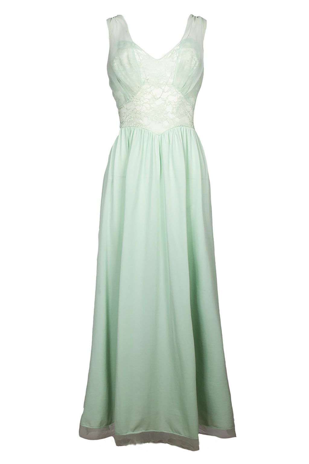Light Mint Vintage Maxi Dress