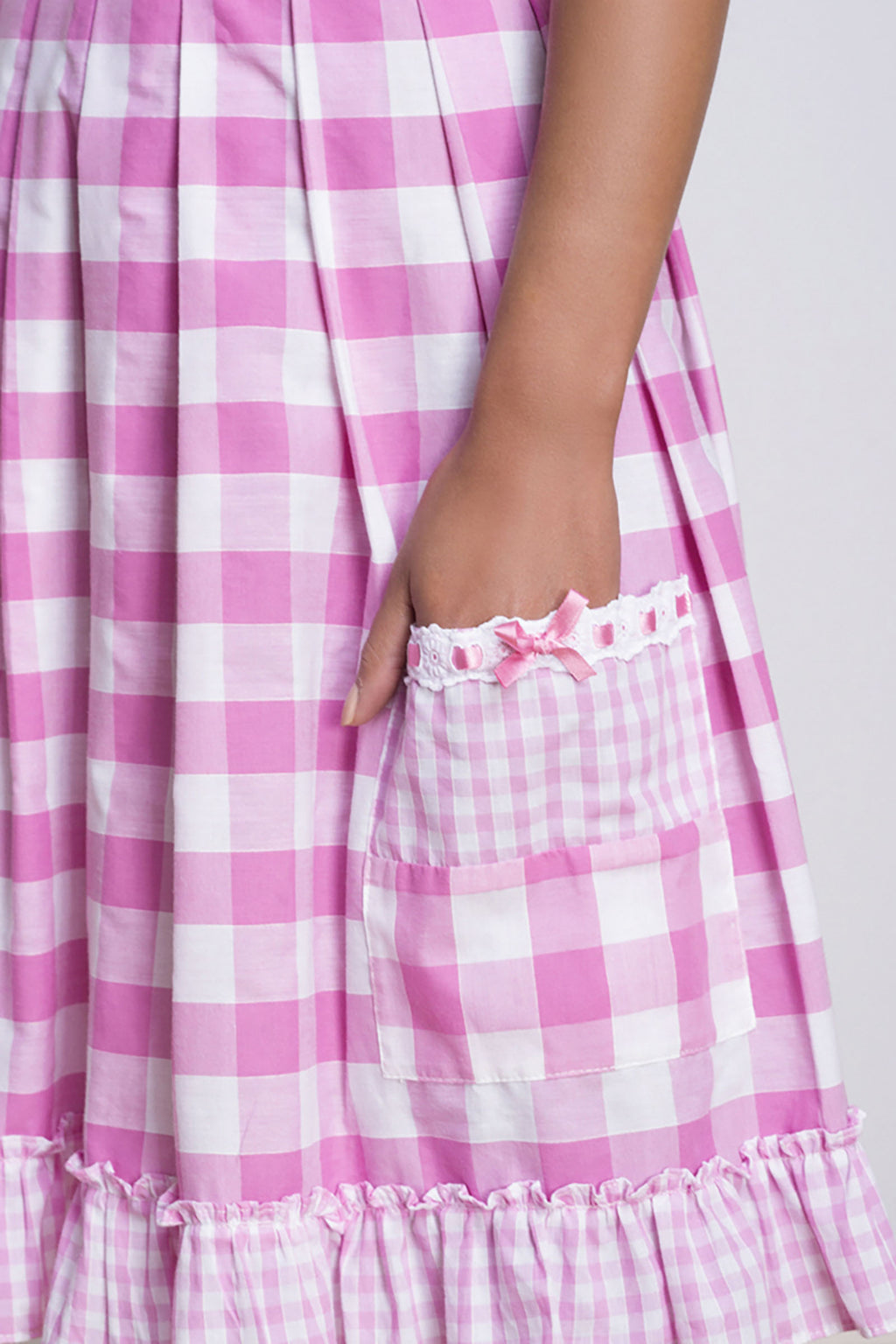 Pink and White Vintage Gingham Sundress