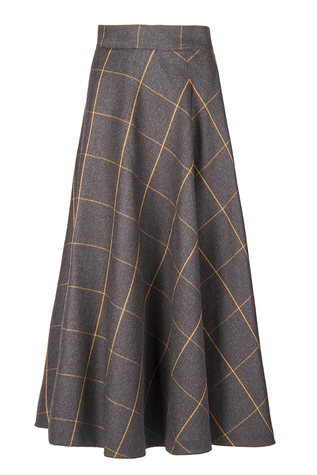 Vintage Checkered High Waisted Maxi Skirt