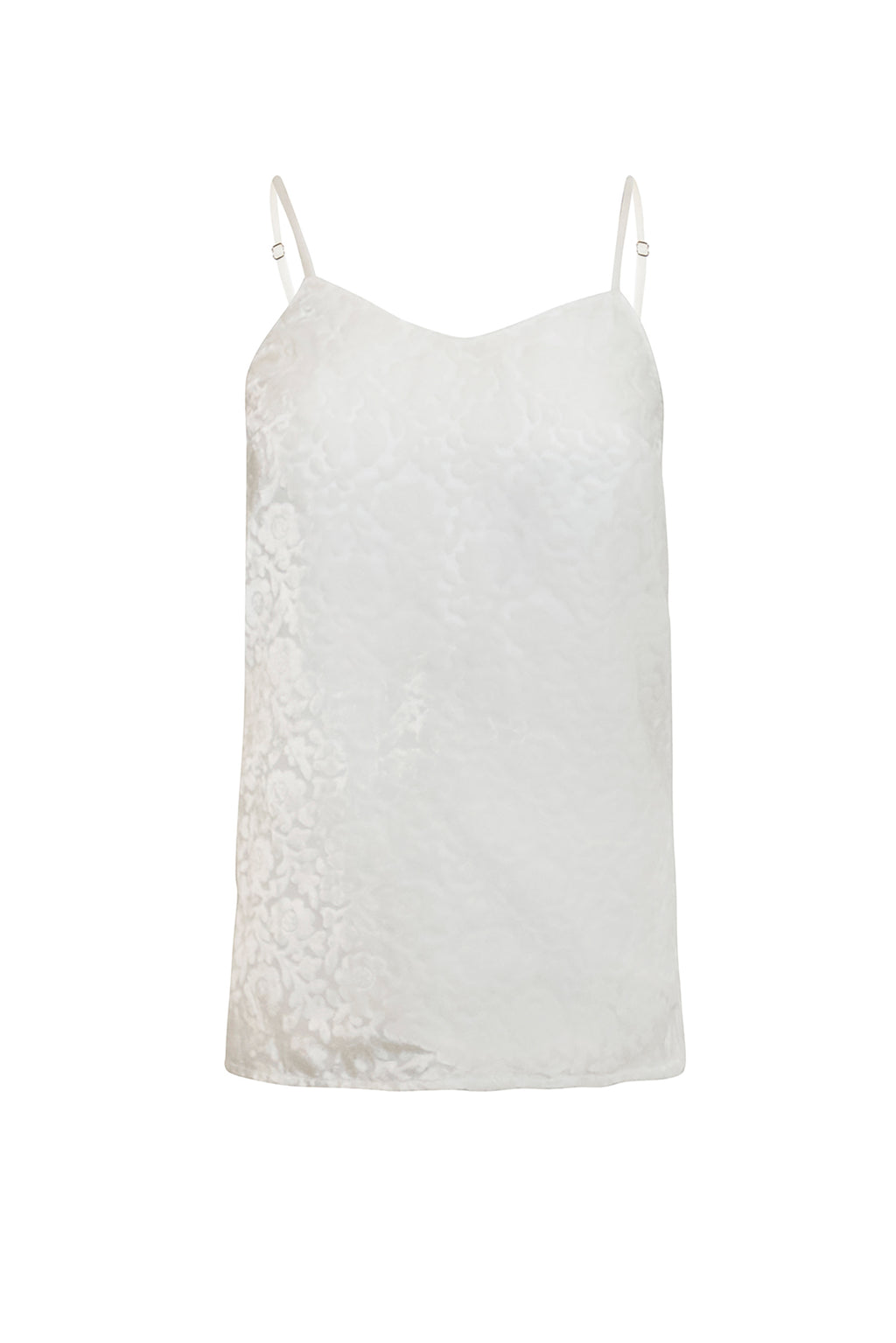 Ilona Rich White Burn-out Cami Top