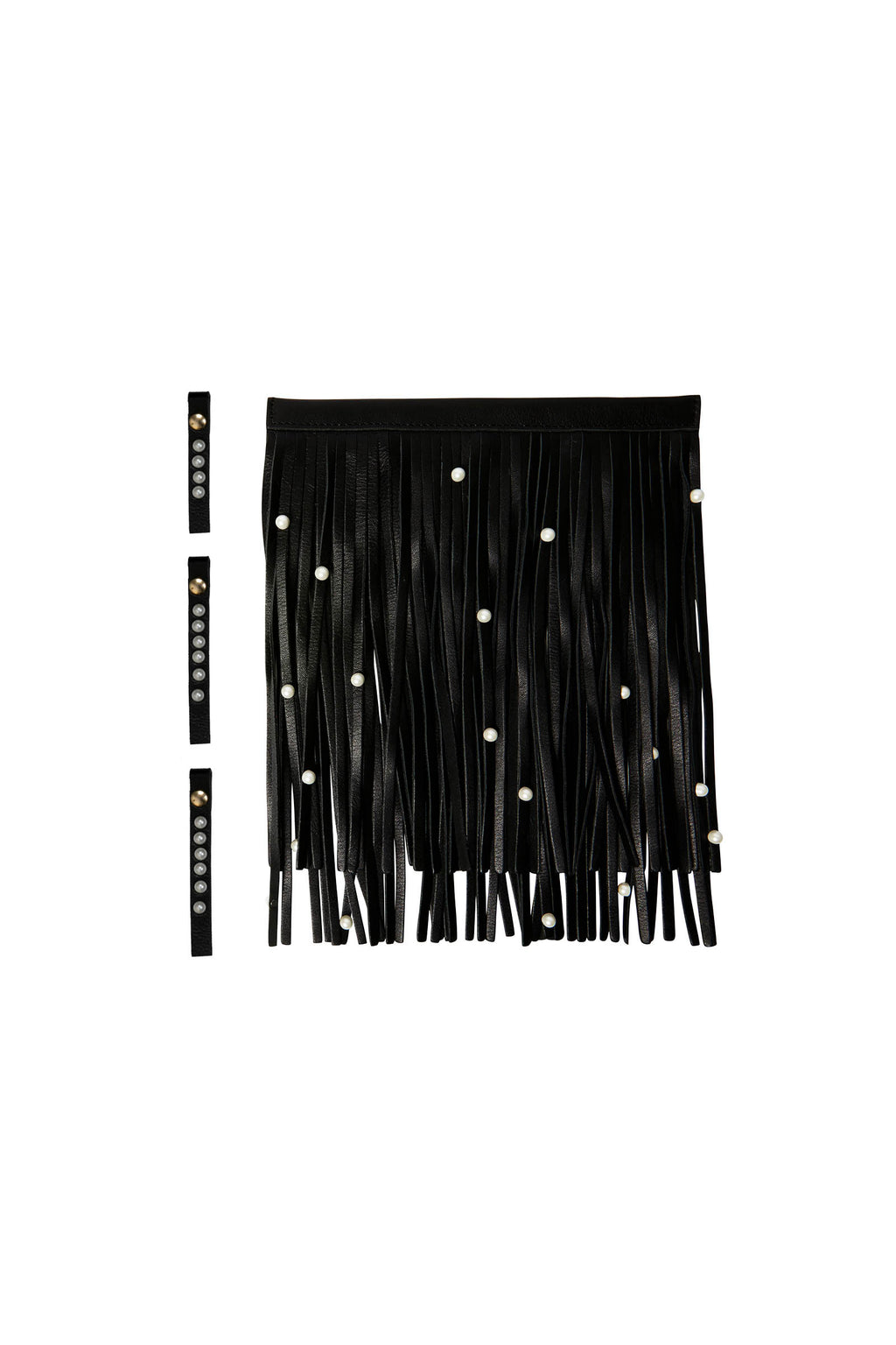 Pearl Leather Tassels and Zip Puller Set for Tassel Bags