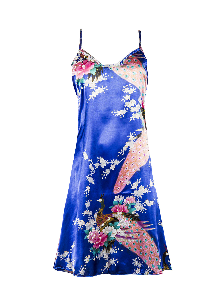 Blue Floral Night Dress detail