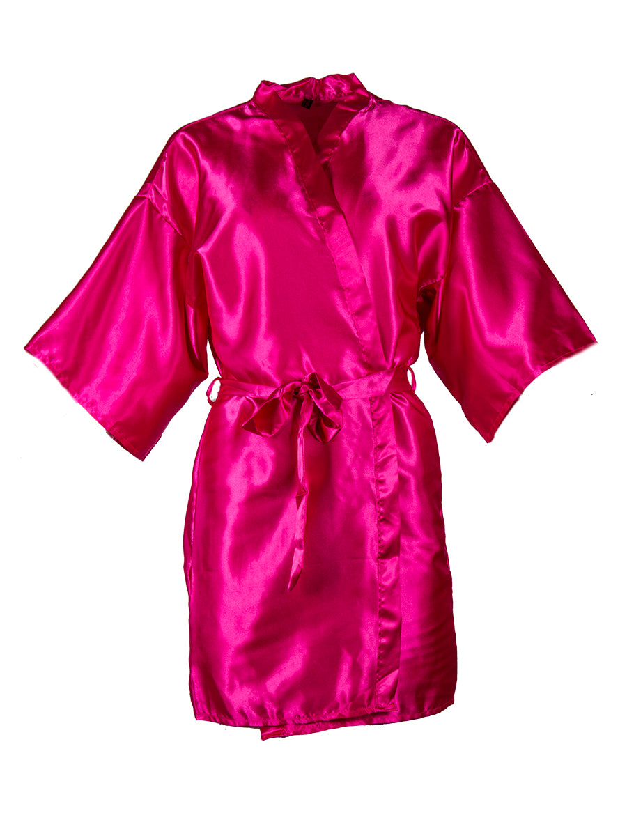 Hot Pink Kimono Dressing Gown