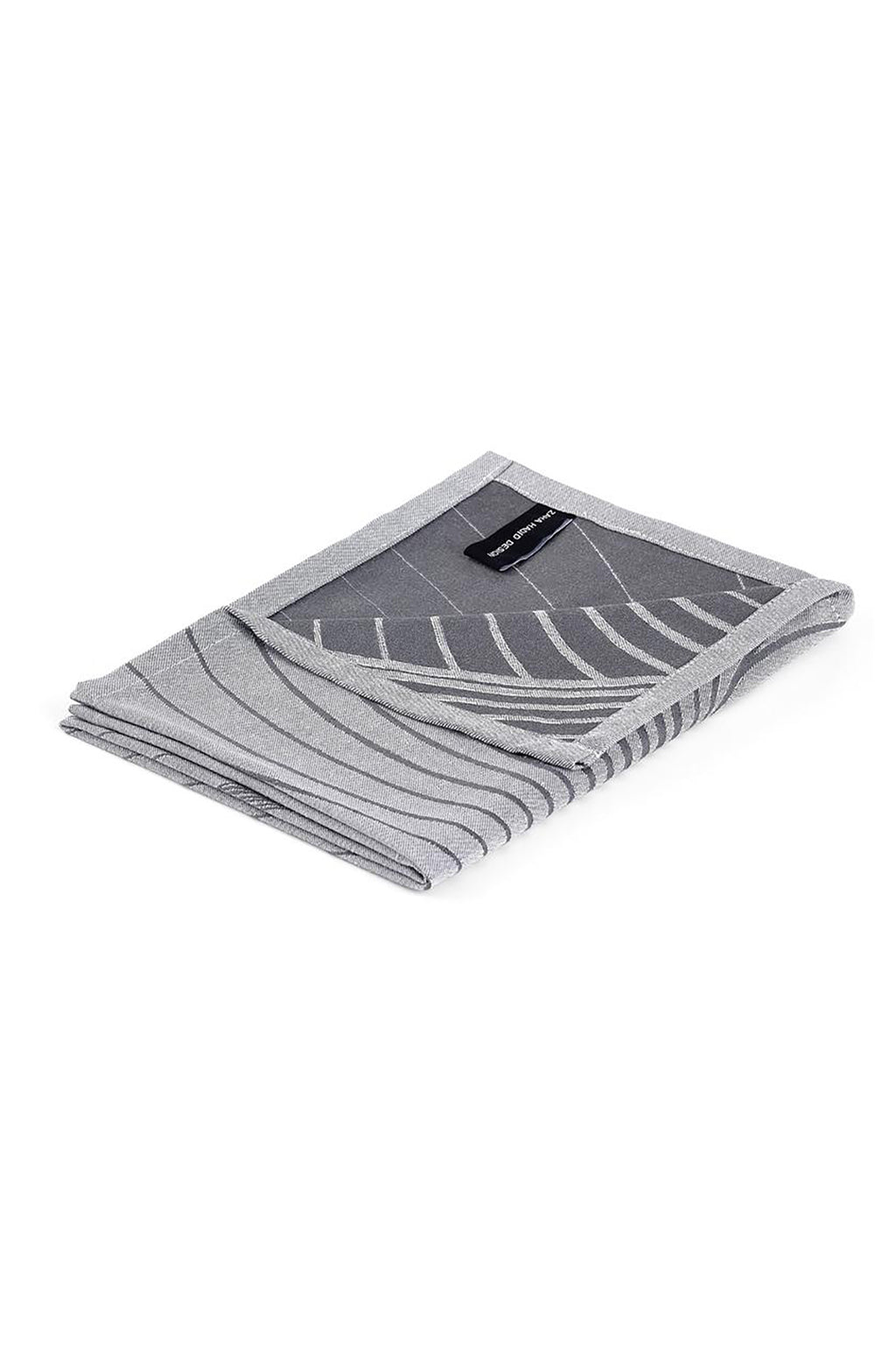Zaha Hadid Design Contour Tea Towel Grey/White - Set of 2
