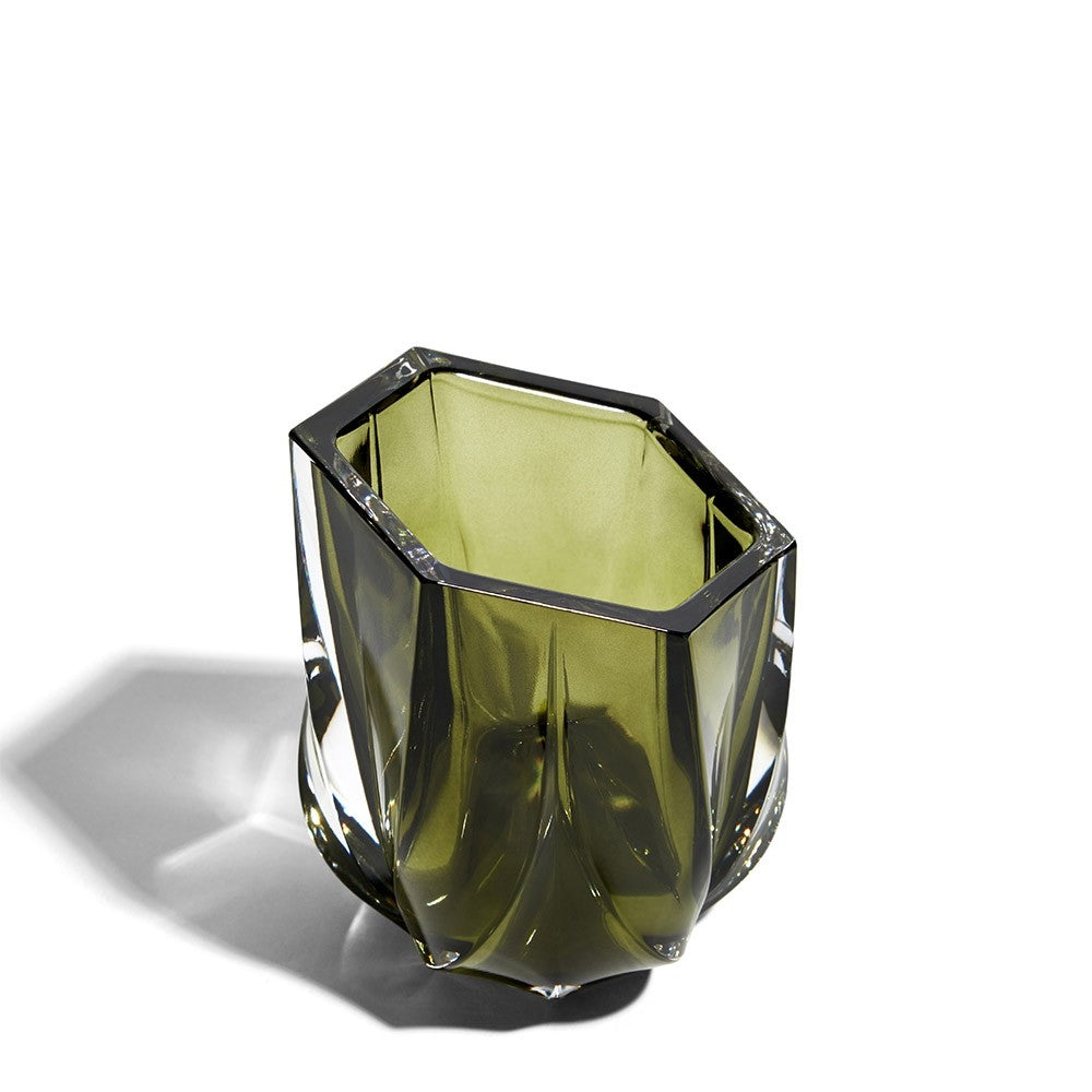 Zaha Hadid Design Olive Green Shimmer Tea Light