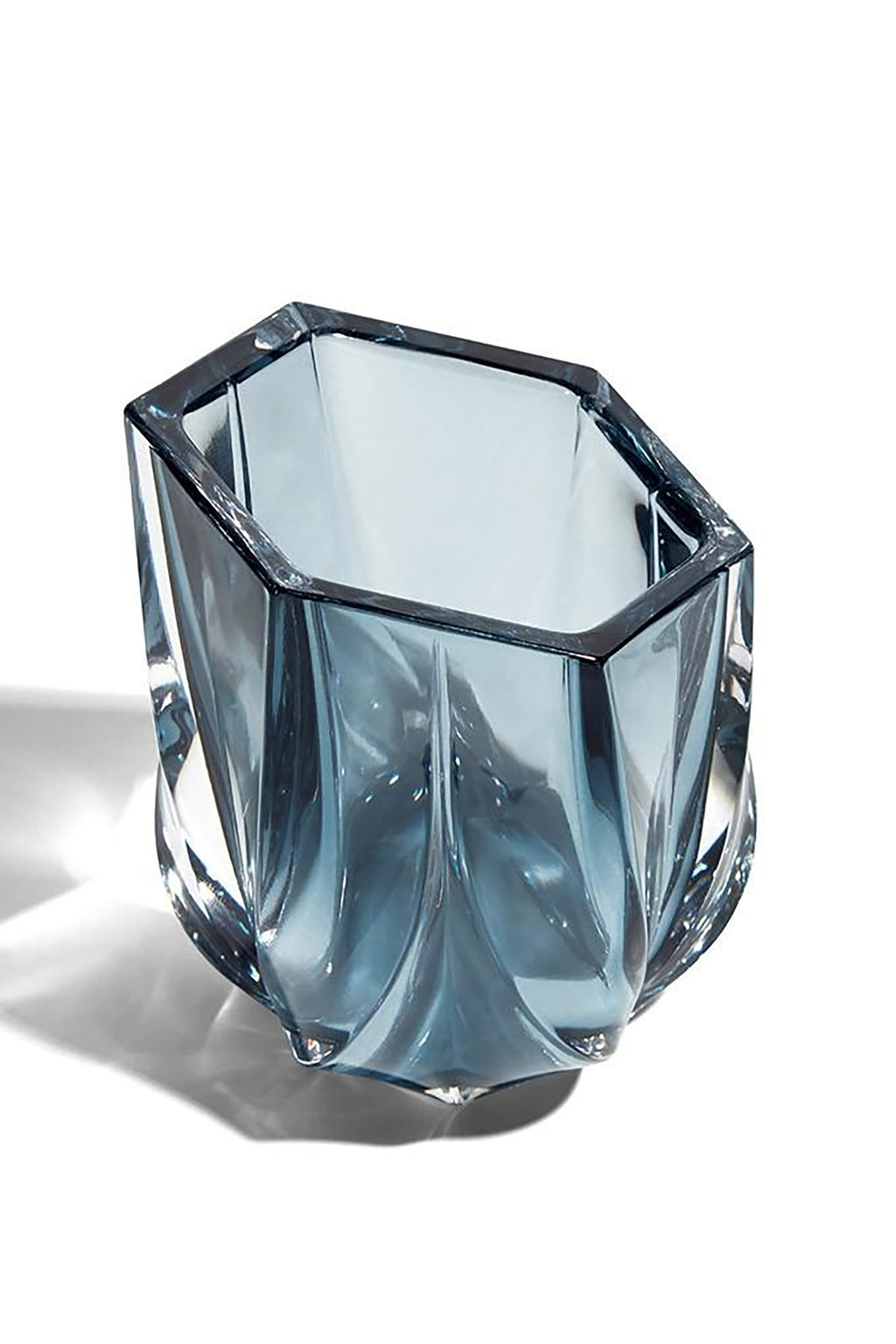 Zaha Hadid Design Slate Blue Shimmer Tea Light