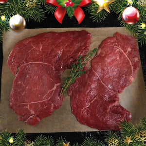 Ten Organic Beef Minute Steaks - Christmas Special