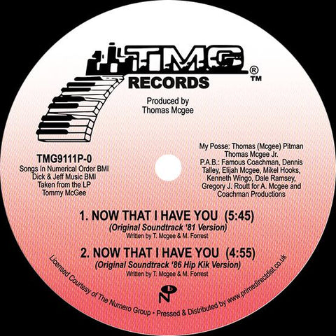Tommy McGee - Now That I Have You
