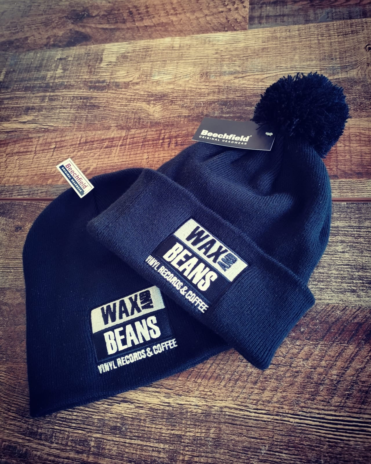 Wax and Beans Beanie Hat (with bobble)