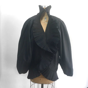 Morton Myles Vintage Pleated Jacket, 80s Avant-Guarde