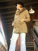 Load image into Gallery viewer, Vintage Pierre Cardin Camel Wool Coat, Designer Vintage Jacket