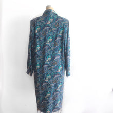 Load image into Gallery viewer, Vintage Paisley Shirt Dress, 70s style