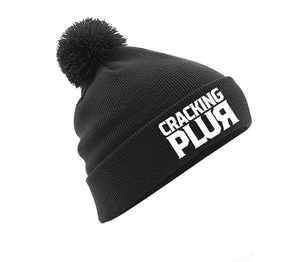 New Cracking Plur Embroidered Pom-Pom Beanie