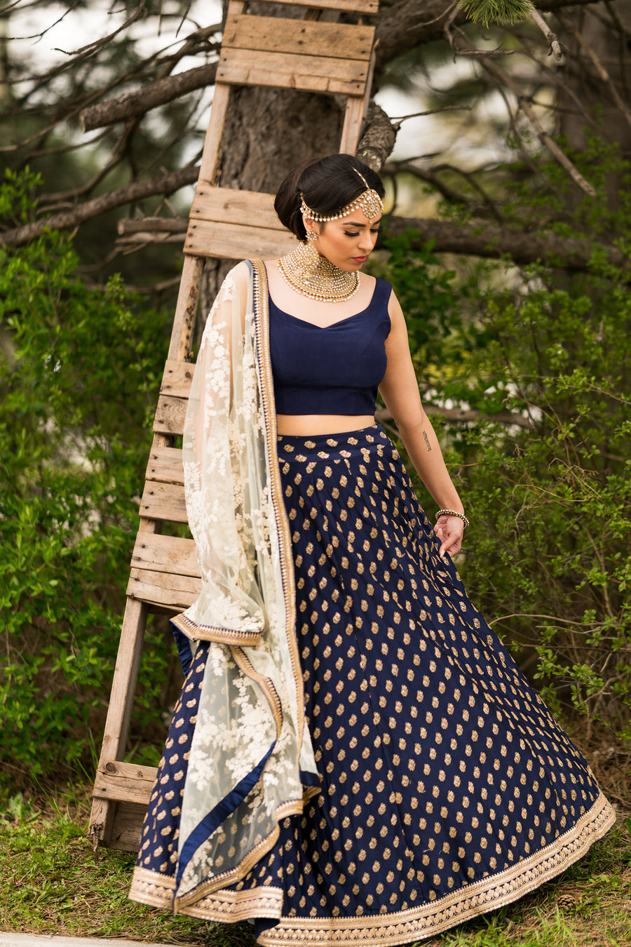 The Heather Lehenga