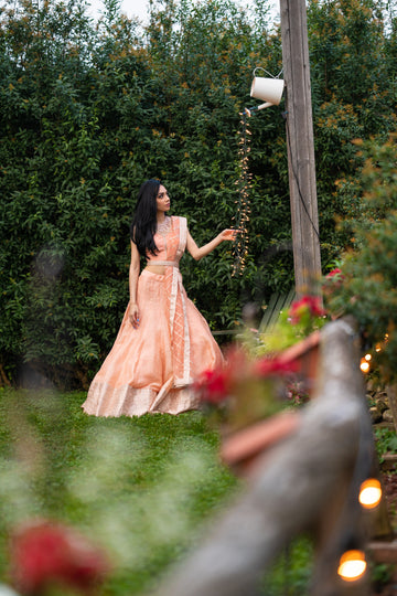 The Peach Lehenga