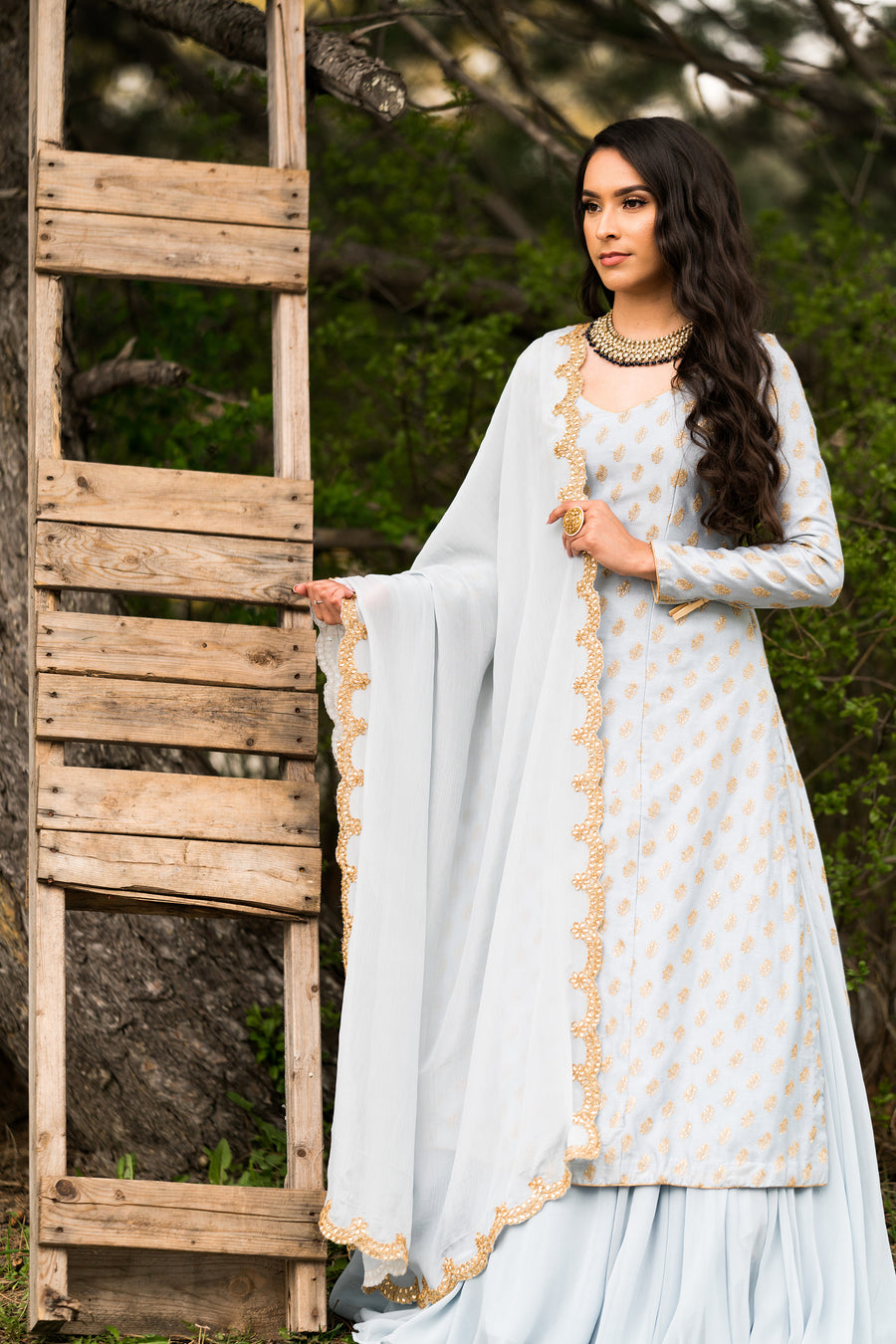 Heather Full Sleeve Lehenga