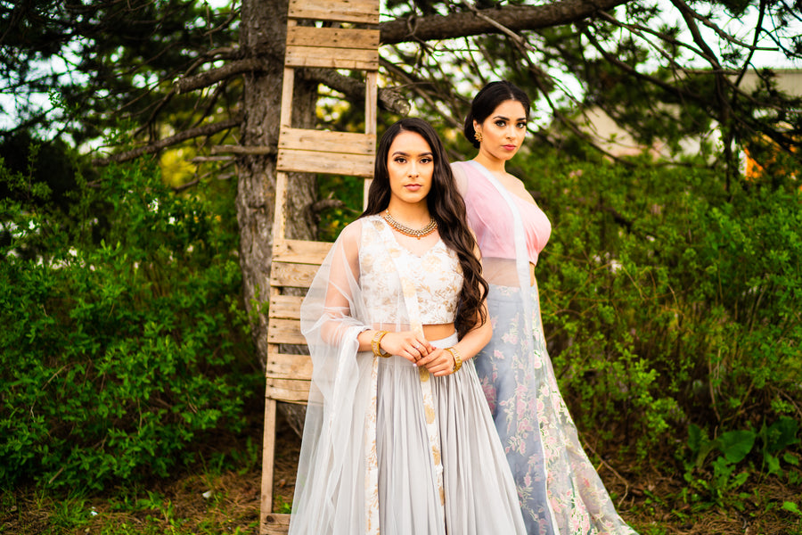The Orchid Blouse with Lehenga