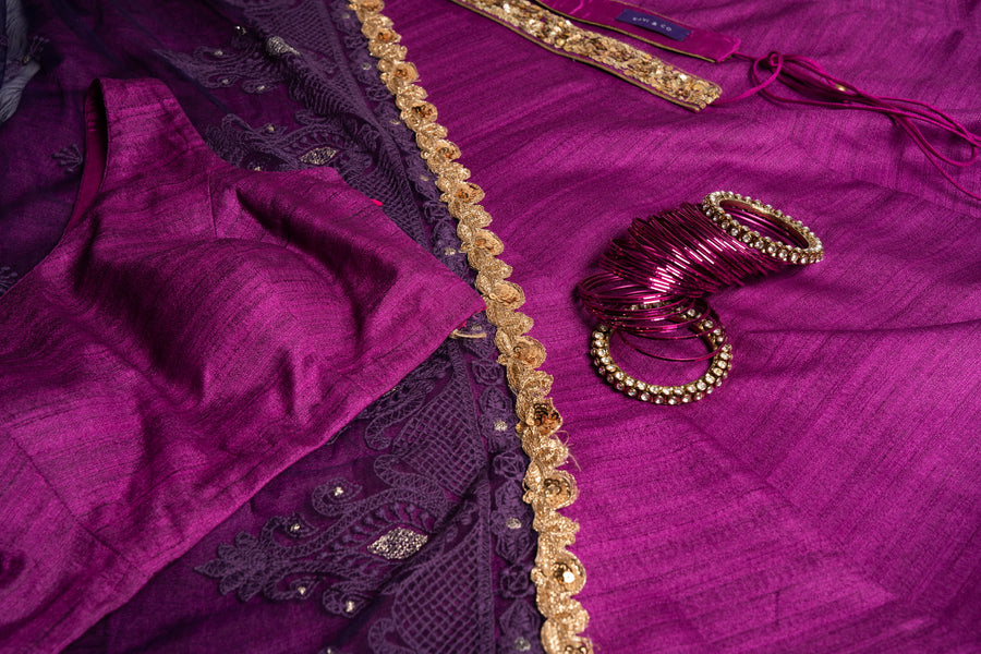 Purple Lengha Set Medium