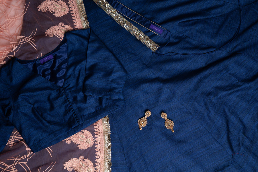 Navy Lengha Set