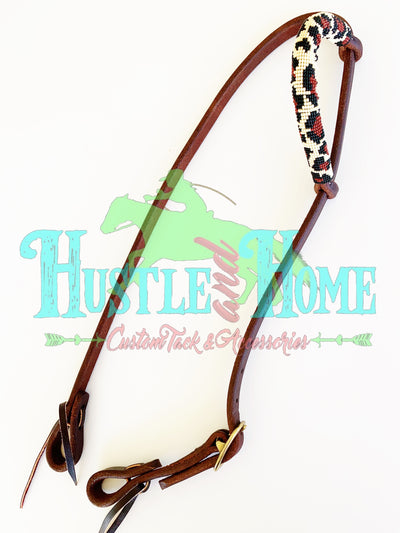 Leopard Beaded Headstall