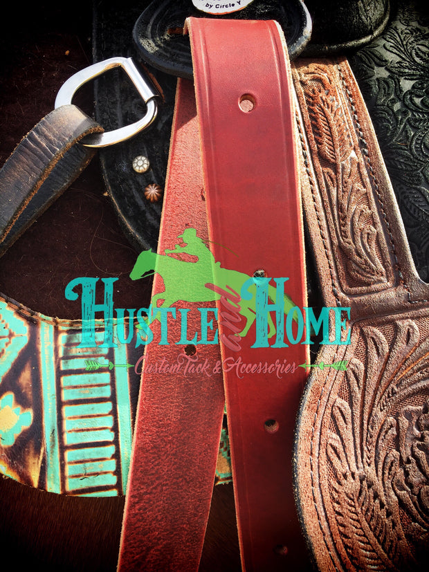 Heavy Latigo Leather Cinch Straps
